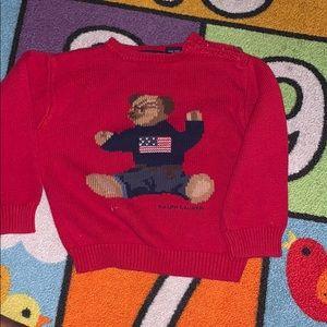 Ralph Lauren teddy bear sweater. Size 3T